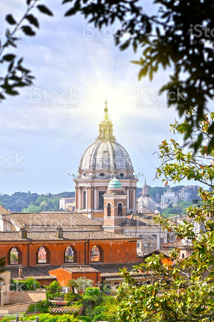 View of San Peter basilica stock photo