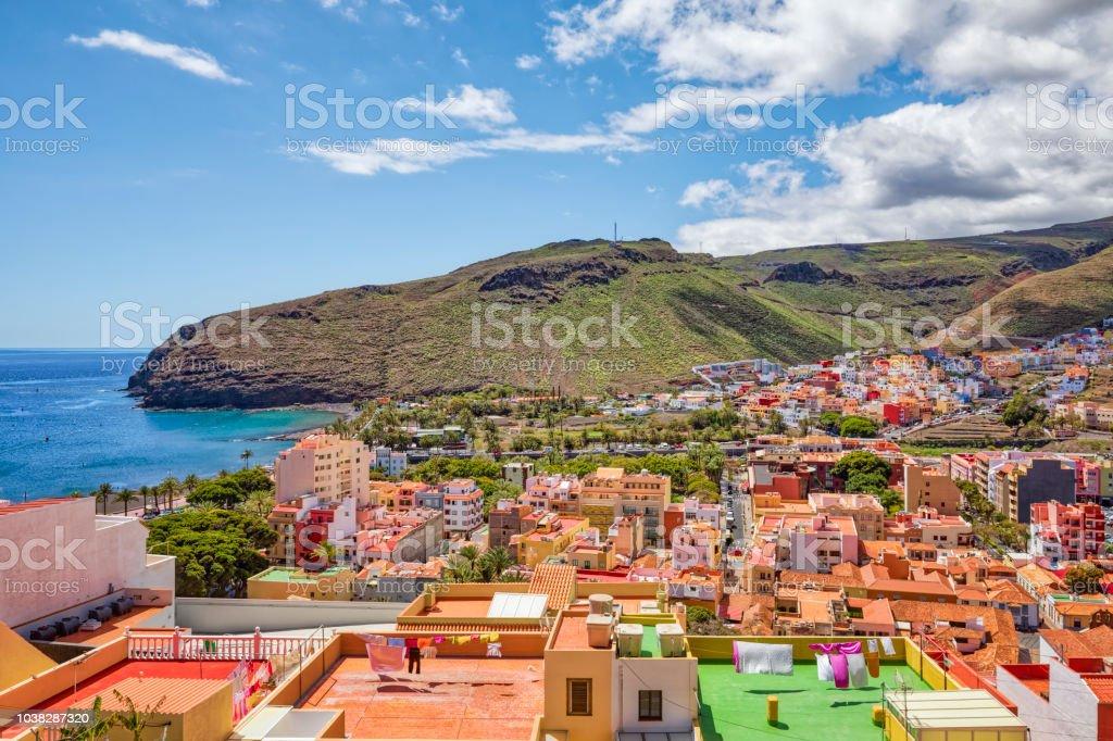 Blick von San Sebastián De La Gomera auf den Kanarischen Inseln La Gomera in der Provinz Santa Cruz De Tenerife - Spanien – Foto