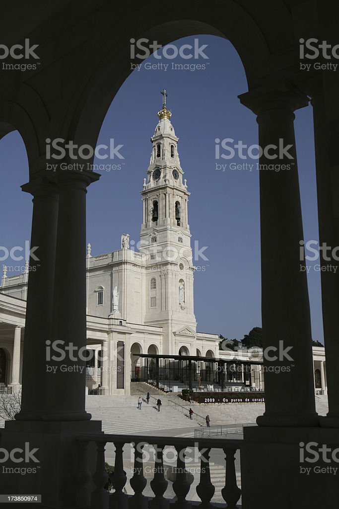 View of  Sanctuary in Fatima, Portugal royalty-free stock photo