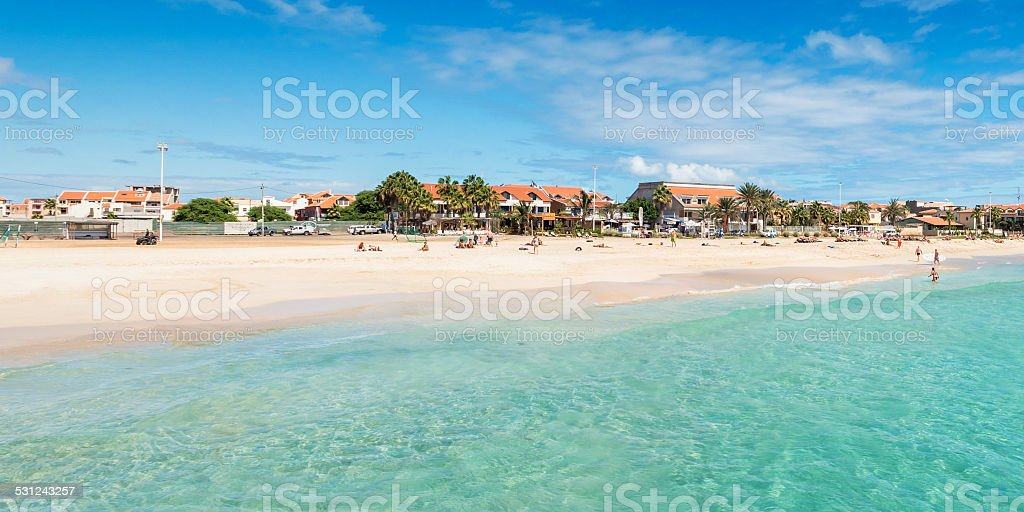 View Of Santa Maria Beach Sal Cape Verde Cabo Verde Stock Photo