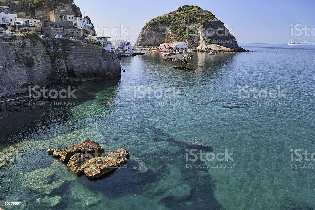 View of SantAngelo in Ischia Island stock photo