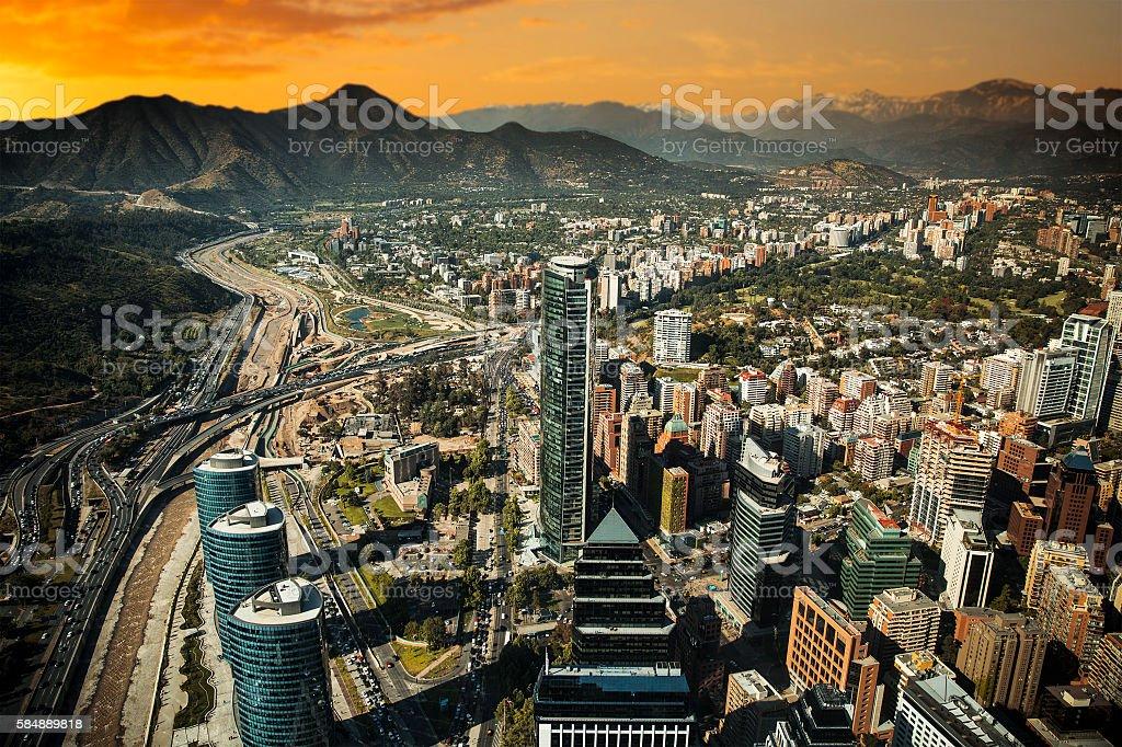 View of Santiago stock photo