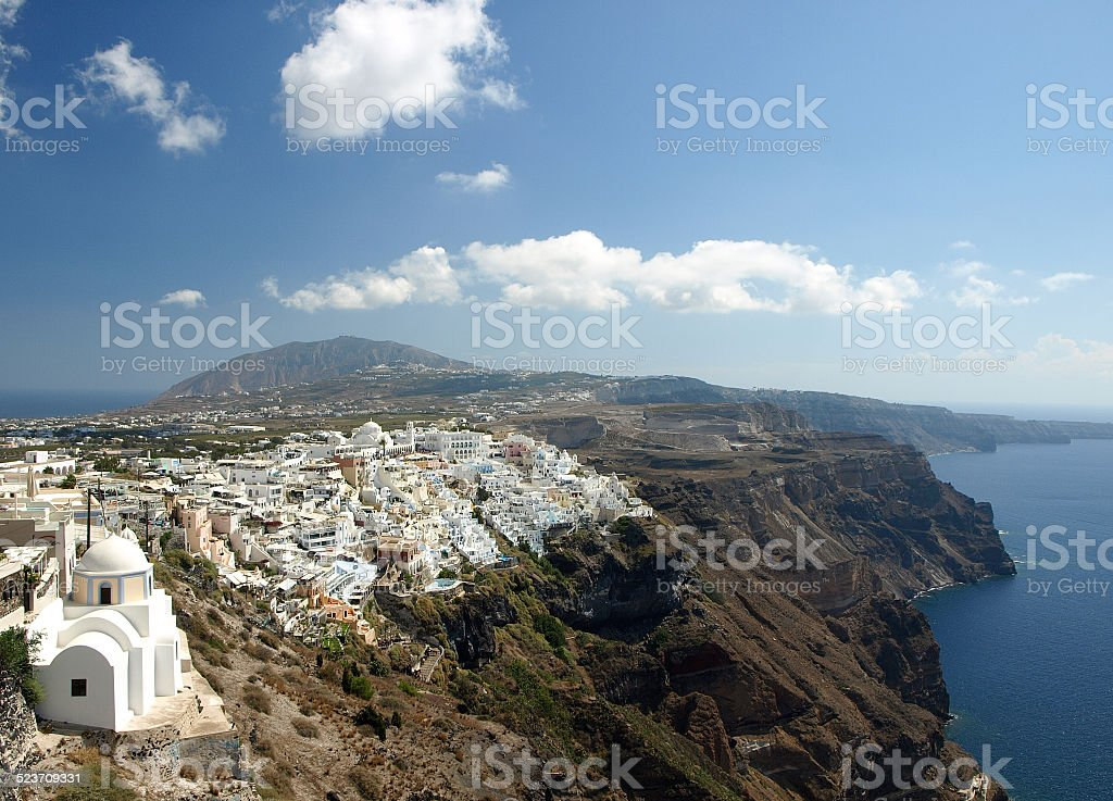 View of Santorini Caledra, Greece stock photo