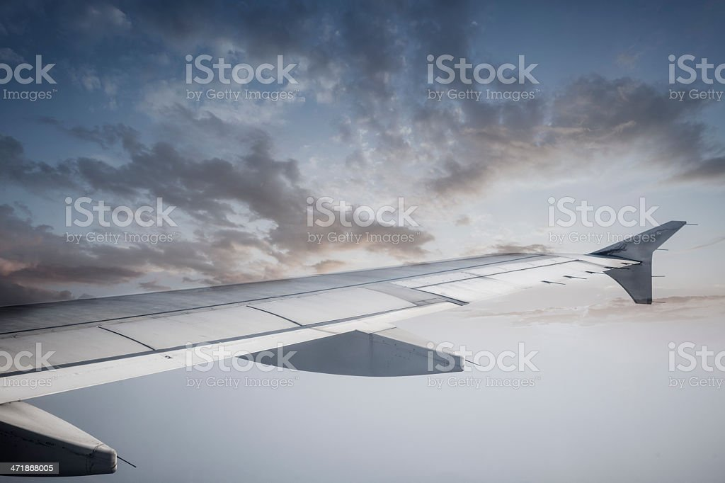 View of Scenic Countryside From Airplane royalty-free stock photo