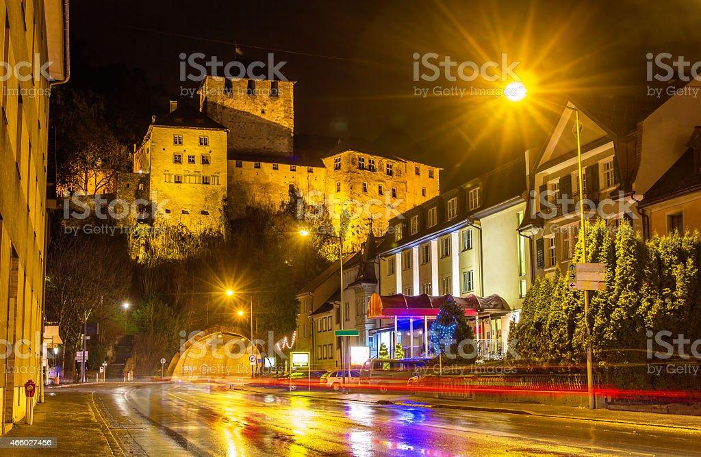 View of Schattenburg castle in Feldkirch - Austria stock photo