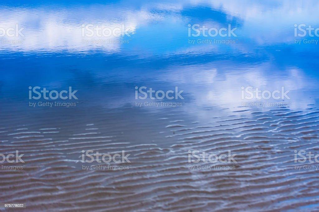 Blick auf Meer Sturm kommt am Hua Hin Strand Prachuab Khirikhan, Thailand. - Lizenzfrei Asien Stock-Foto