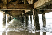 Beautiful view of sea under the old pier