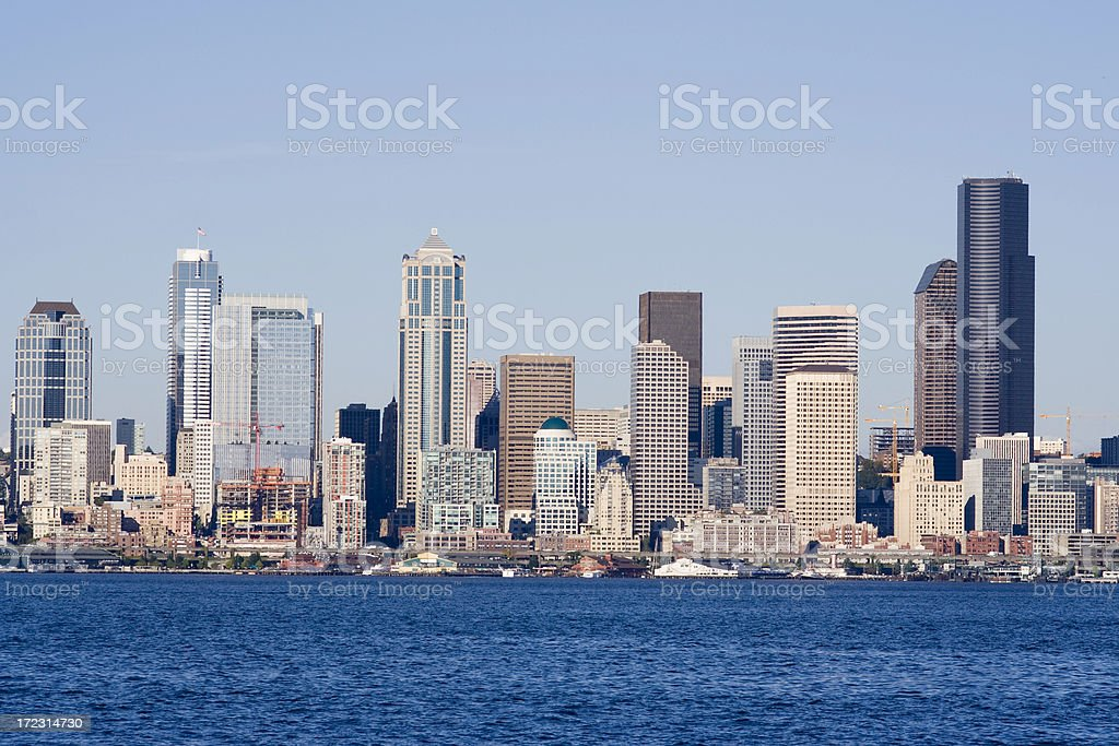 View of Seattle on sunny day royalty-free stock photo