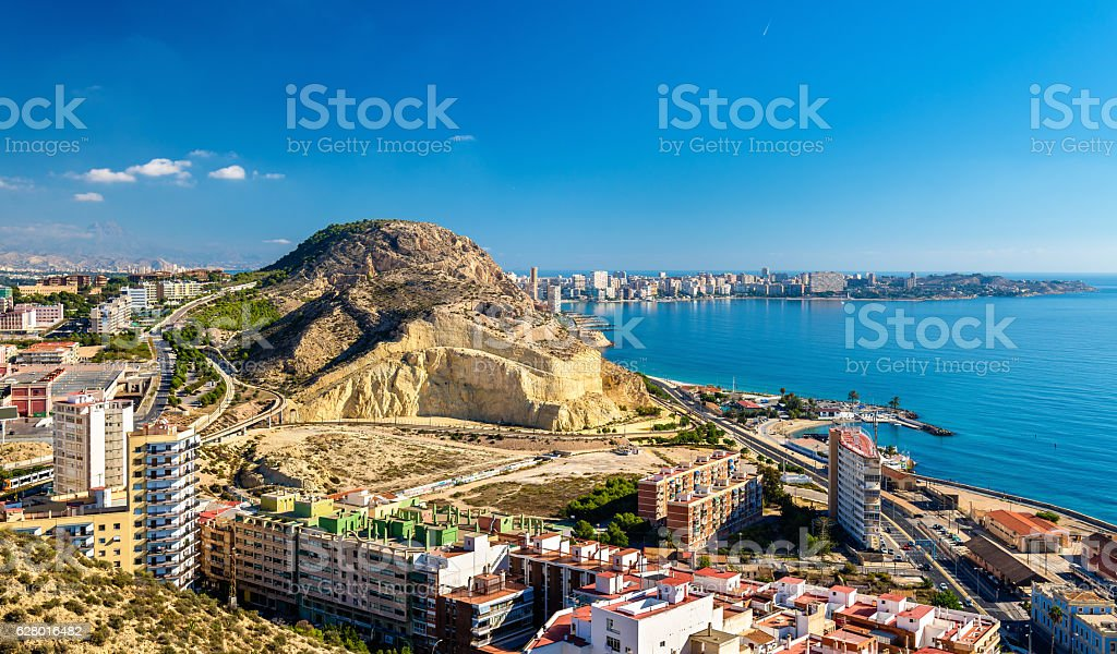 View of Serra Grossa o San Julian Mountain in Alicante – Foto