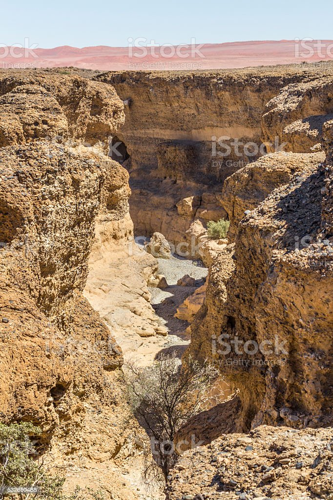 View of Sesriem Canyon, Namibia stock photo