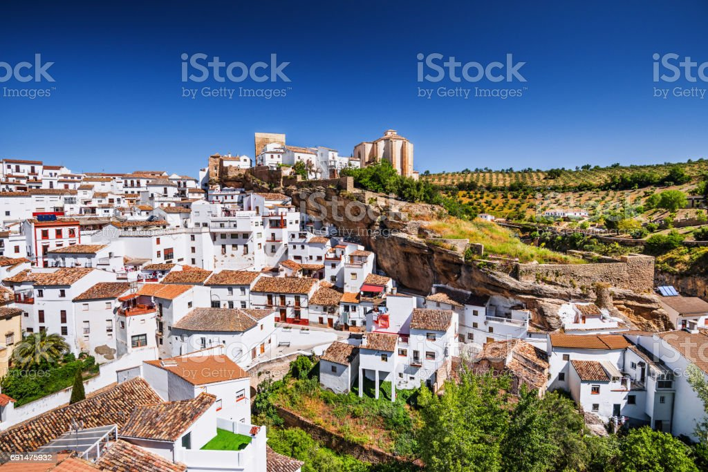 View of Setenil de las Bodegas, Andalucia, Spain stock photo