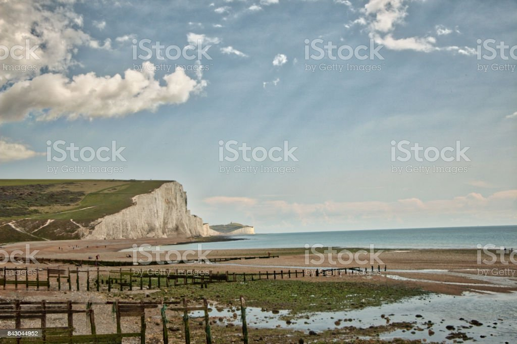 View of Seven Sisters stock photo