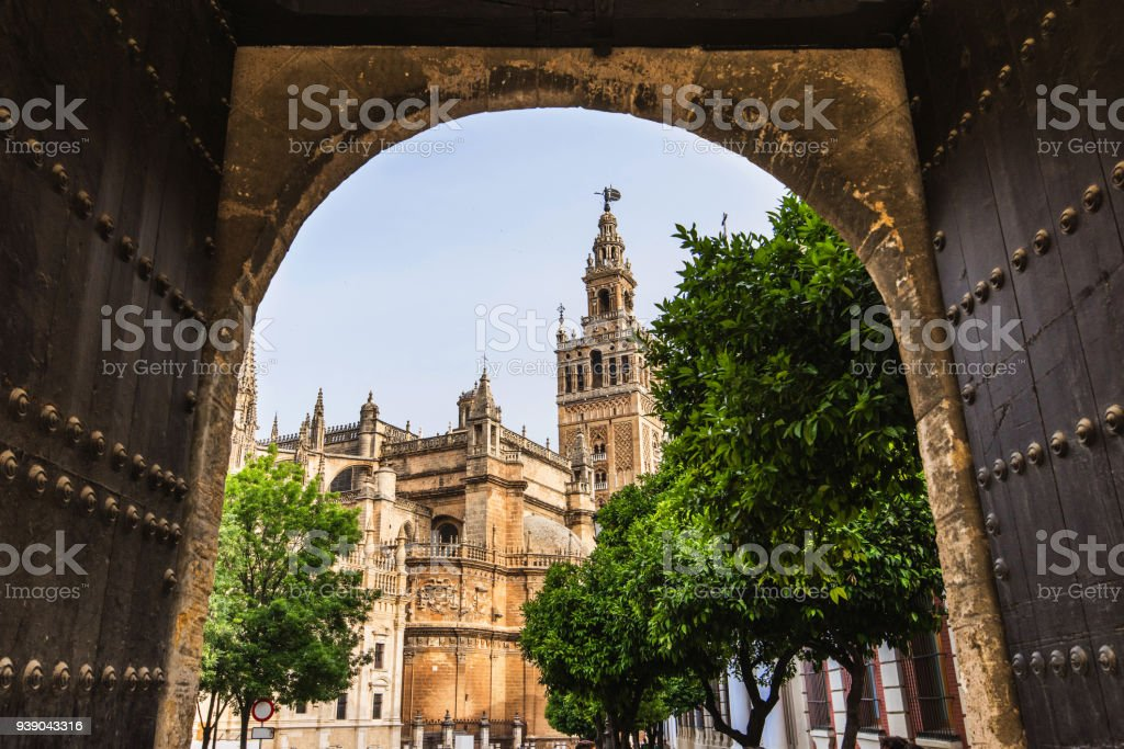 View of Seville Cathedral, Spain stock photo