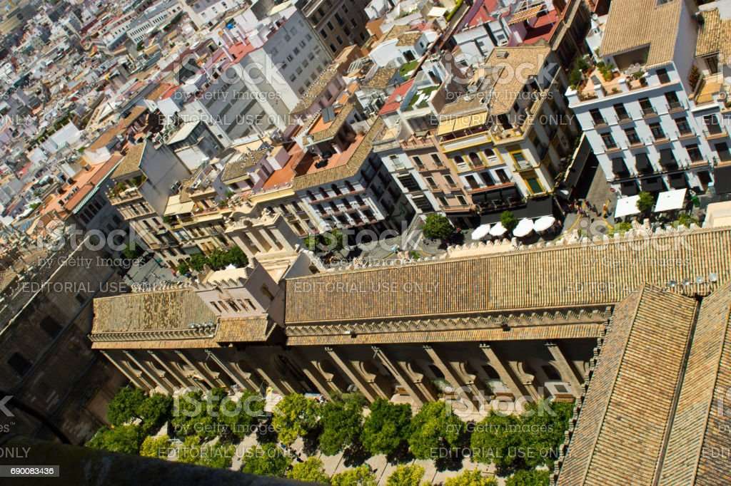 View of Seville from the Cathedral stock photo