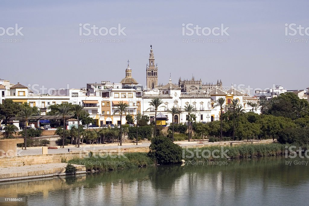 View of Seville skyline including the Giralda Tower royalty-free stock photo