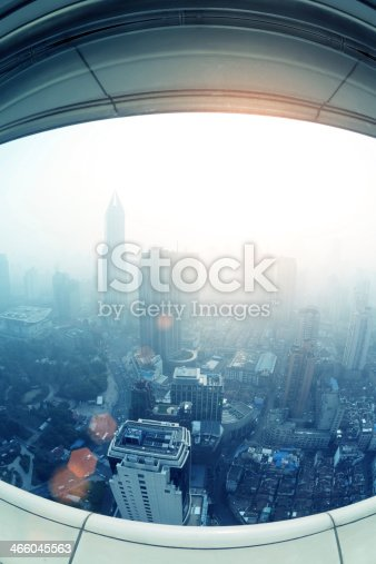 istock View of Shanghai from a height. 466045563