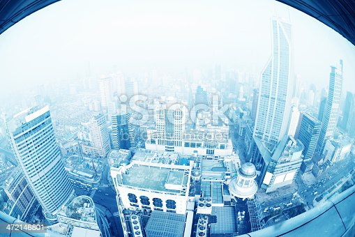 istock View of Shanghai from a height. 472146801