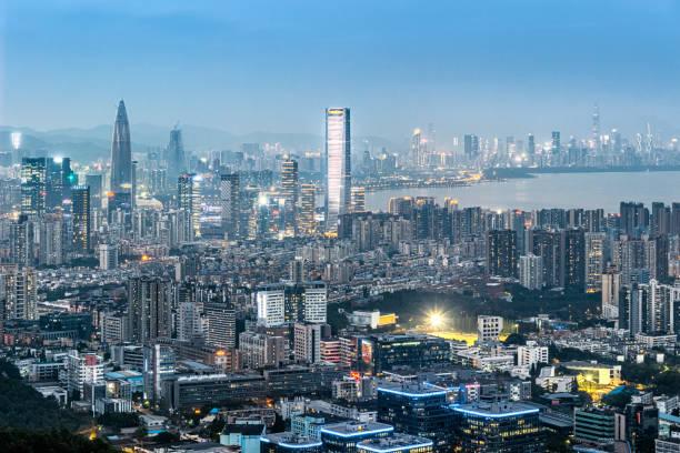 vista de Shenzhen - foto de stock