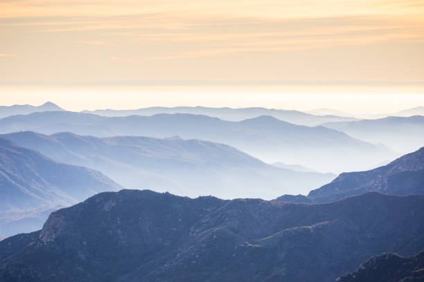 View of Sierra Nevada Mountains in California stock photo