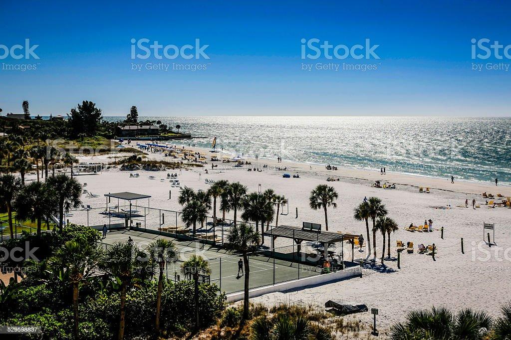 View of Siesta Key beach in Sarasota Florida stock photo