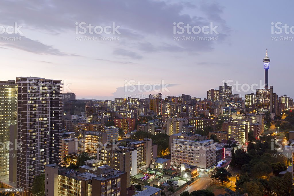 View of skyline of Johannesburg, South Africa stock photo