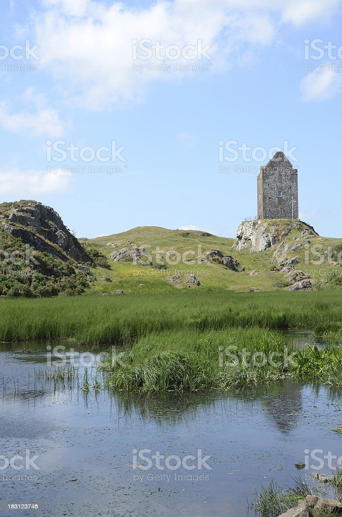 View of Smailholm Tower royalty-free stock photo