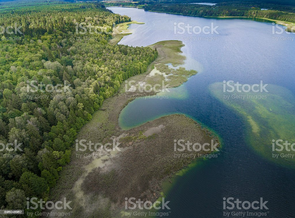 View of small islands on the lake in Poland. royalty-free stock photo
