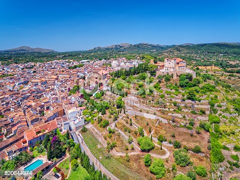 istock View of small town Artà ( Parish church and pilgrimage church )on the Spanish Balearic island of Majorca 820644374