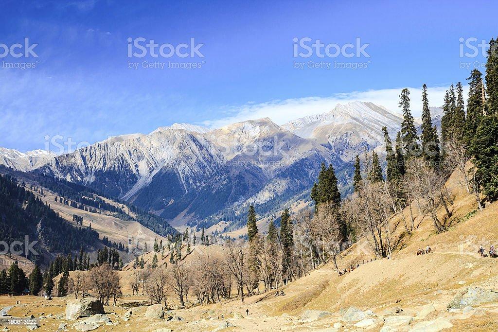 view of snow mountain royalty-free stock photo
