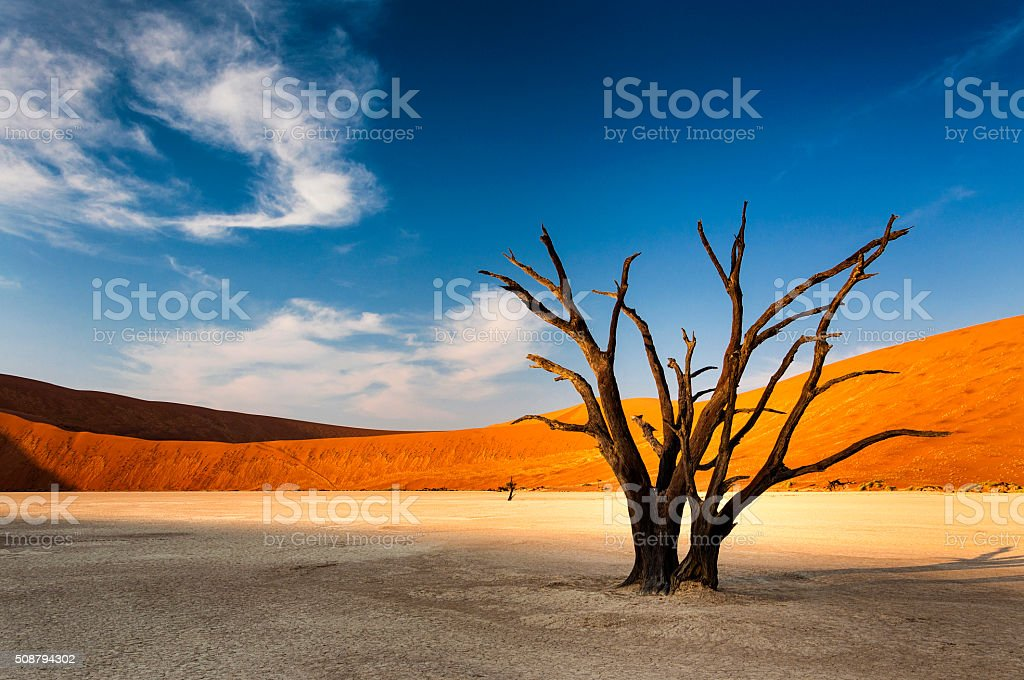 View of Sossusvlei, in the Namib Desert, Namibia stock photo