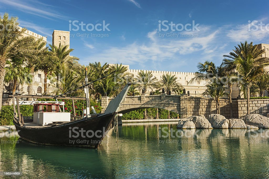 DUBAI, UAE - NOVEMBER 15: View of  Souk Madinat Jumeirah stock photo