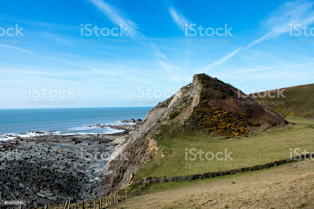 View of Spekes Mill Mouth stock photo