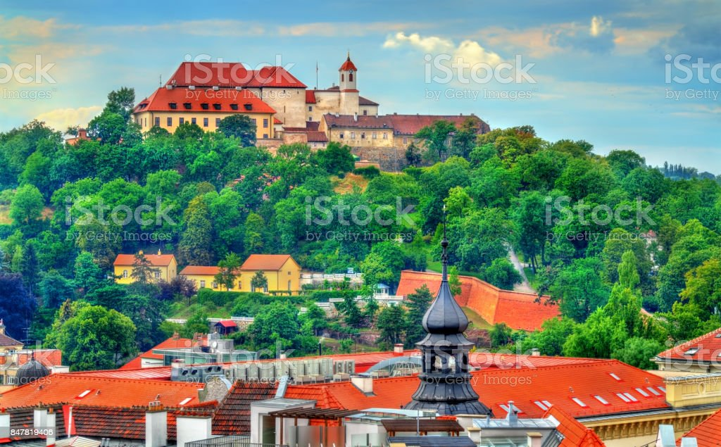 View of Spilberk Castle in Brno, Czech Republic stock photo