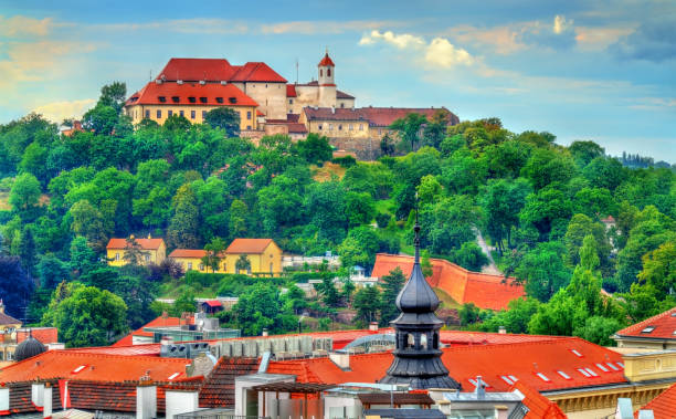 View of Spilberk Castle in Brno, Czech Republic View of Spilberk Castle in Brno - Moravia, Czech Republic brno stock pictures, royalty-free photos & images