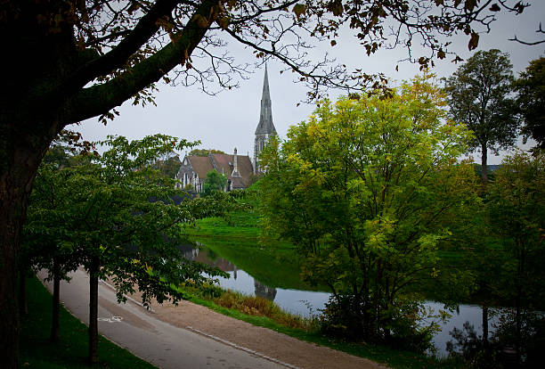 View of St Alban Church stock photo