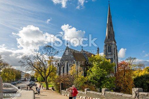 Copenhagen, Denmark - Oct 19, 2018: View of St. Alban