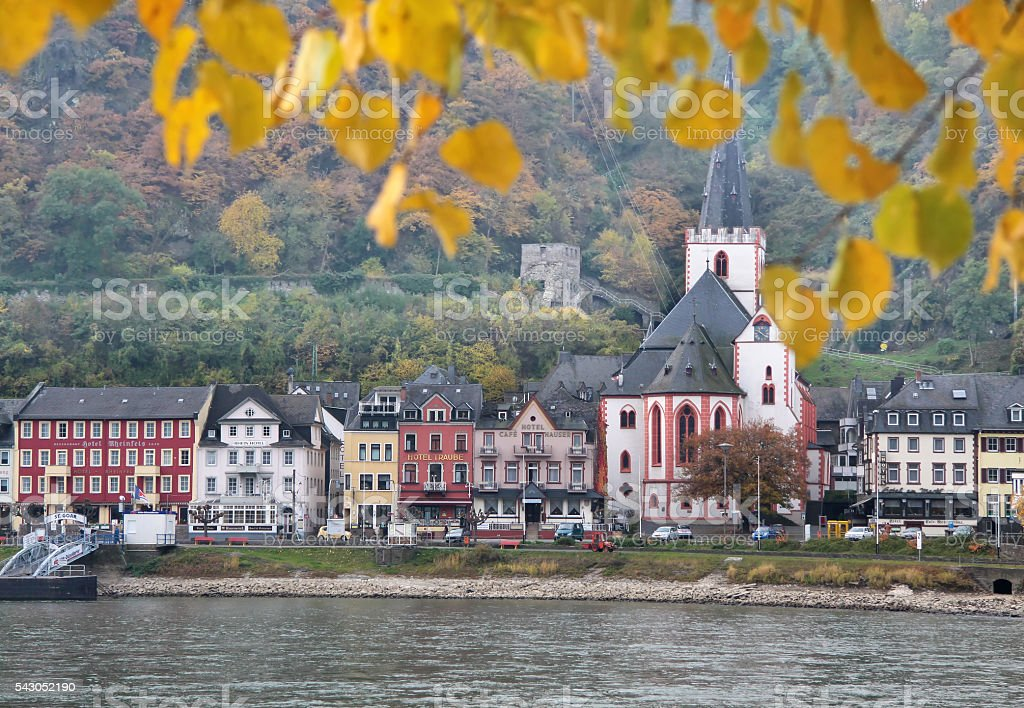 View of St. Goar stock photo