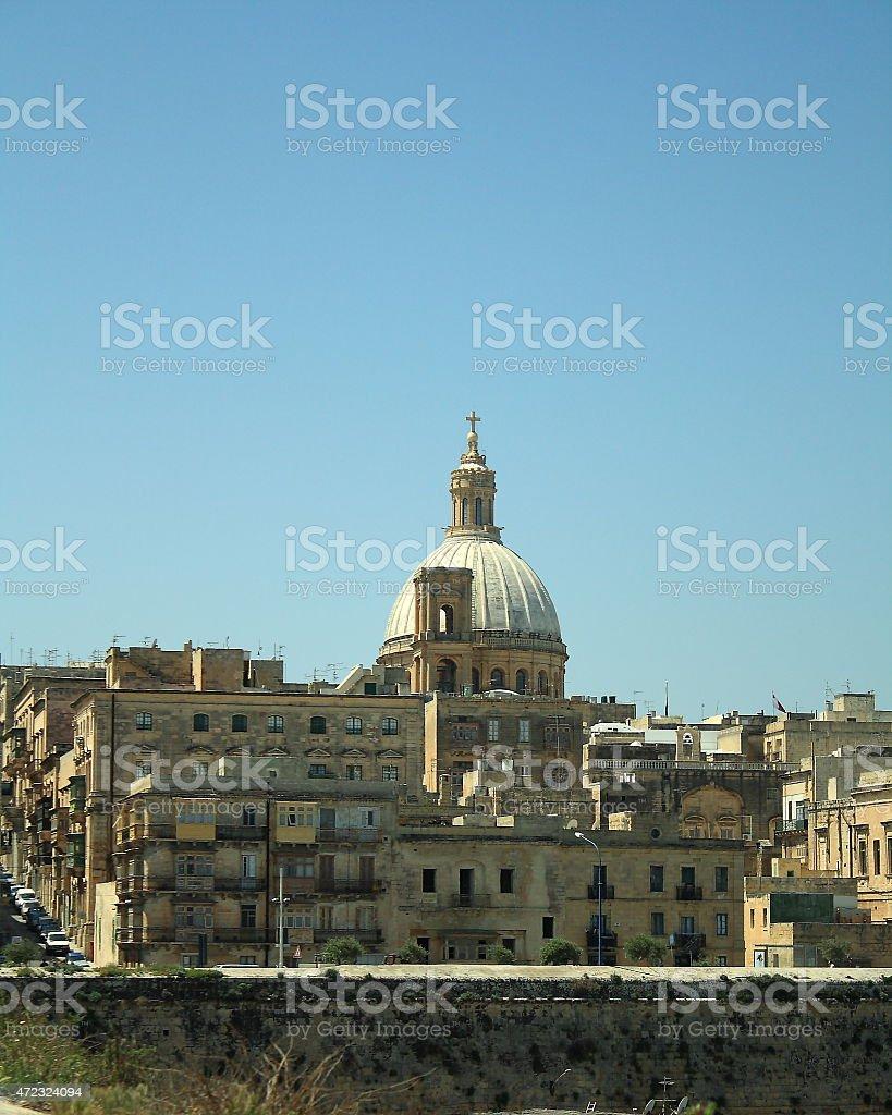 View of St John's Cathedral, Valletta, Malta stock photo