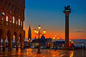 istock View of St. Mark's Square at night in Venice 1145639768