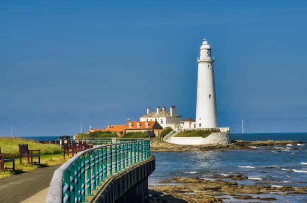Ein Blick auf Str. Marys Leuchtturm, Whitley Bay, Tyne and Wear – Foto