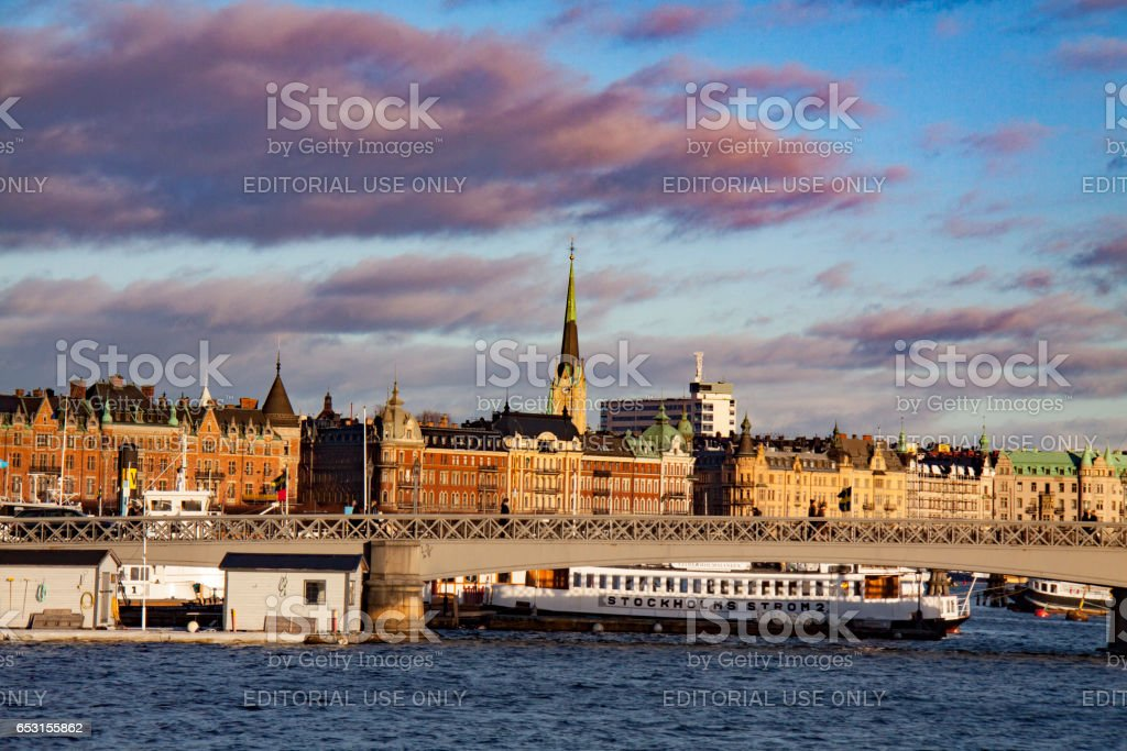View of Stockholm in winter, Sweden stock photo
