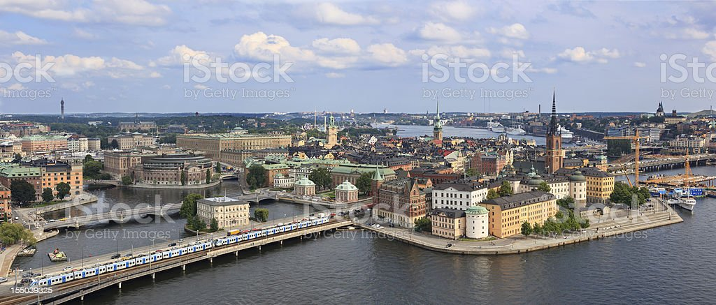 View of Stockholm, Sweden stock photo