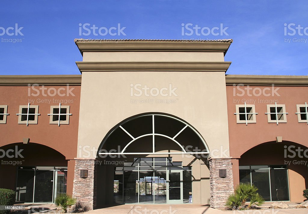View of Storefront stock photo
