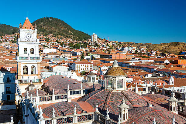 View of Sucre, Bolivia stock photo