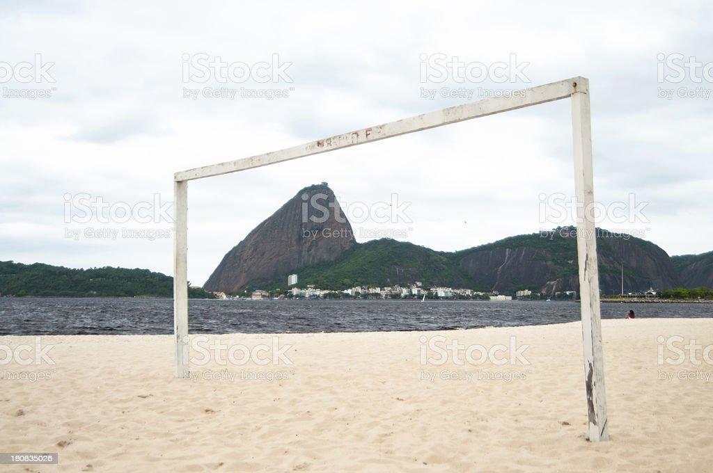 View of Sugar Loaf Mountain, Praia do Flamengo, Rio, Brazil. stock photo
