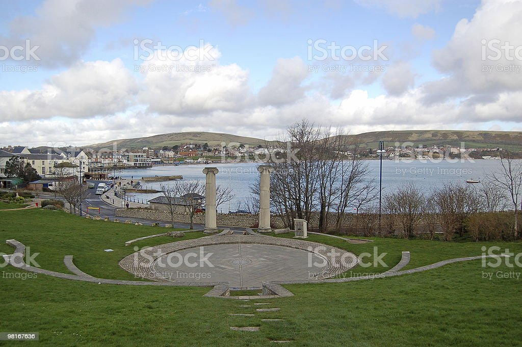 View of Swanage, Dorset royalty-free stock photo