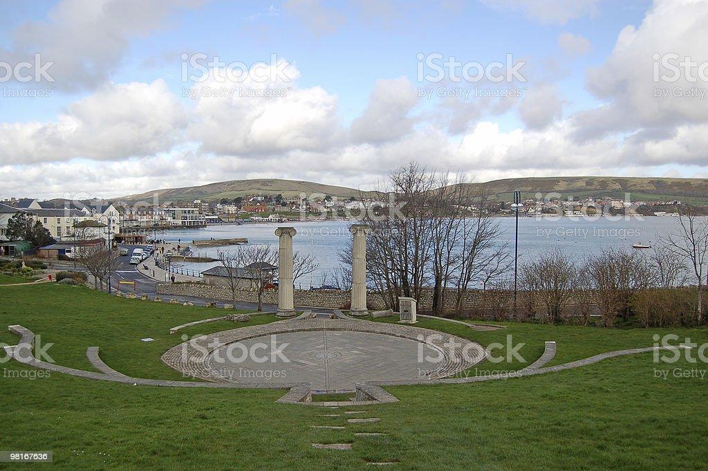 Vista di Swanage, Dorset foto stock royalty-free