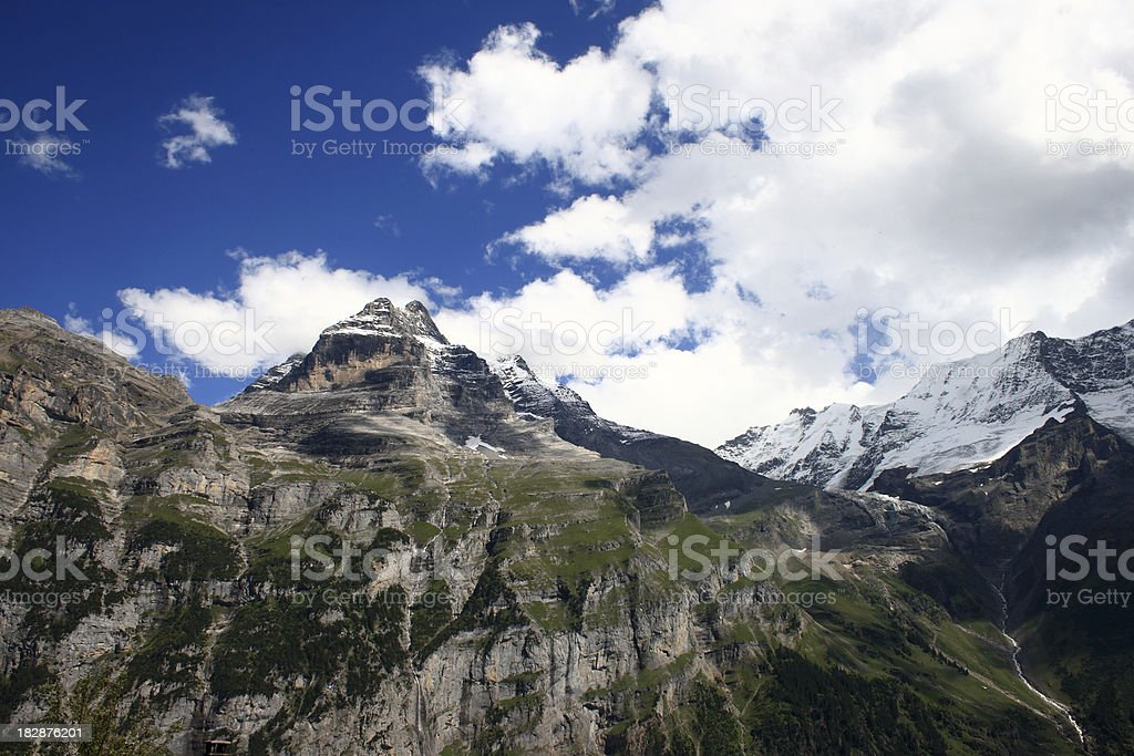 View of Swiss Alps, Gimmelwald royalty-free stock photo