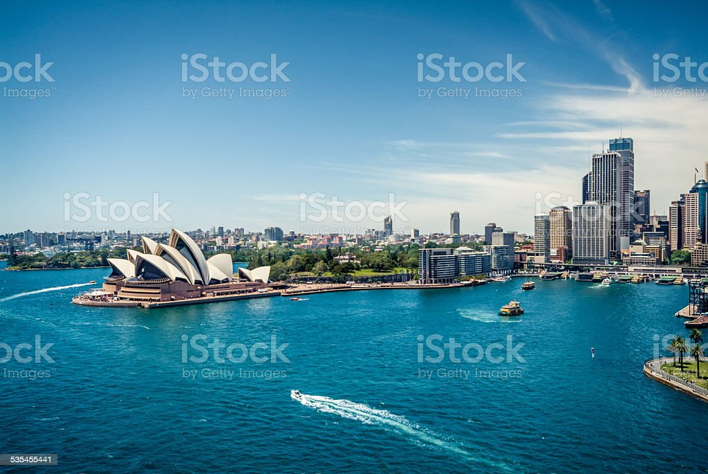 View of Sydney Harbour, Australia stock photo