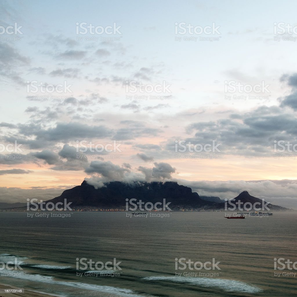 View of table Mountain stock photo